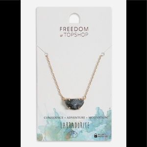 Freedom of Topshop Gold Labradorite Necklace 💞